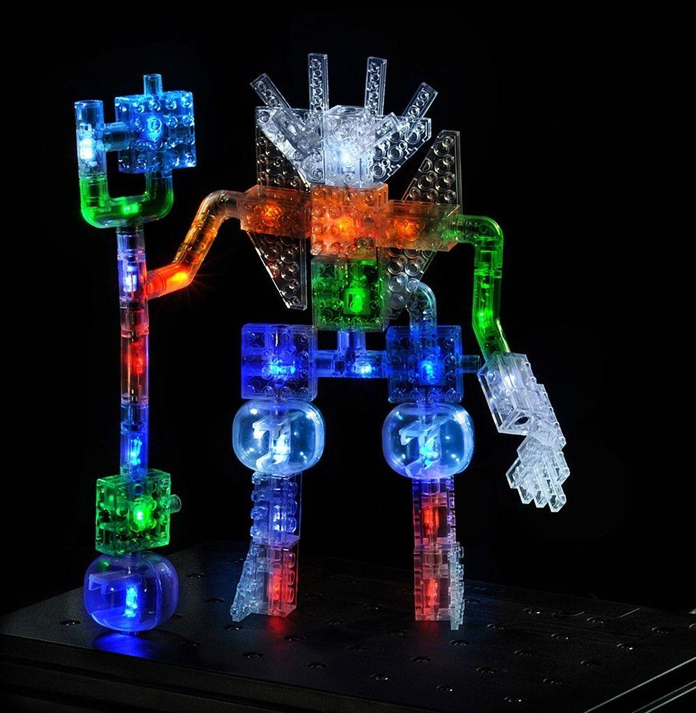 Конструктор Laser Pegs со светодиодами Дракон, набор 57 в 1