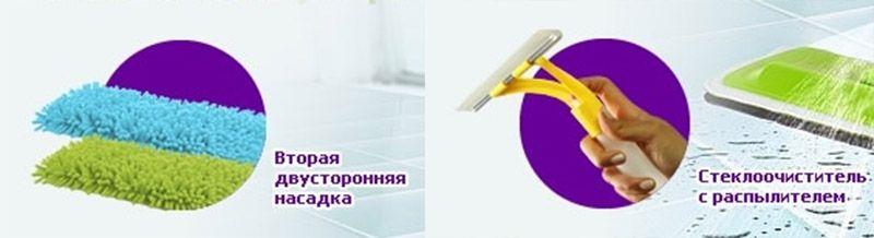 Швабра с распылителем Spray Mop Deluxe купить 8-495-510-30-26. Доставка по России.